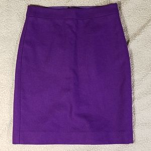 "J. Crew ""The Pencil Skirt"" Purple Skirt Sz 0"